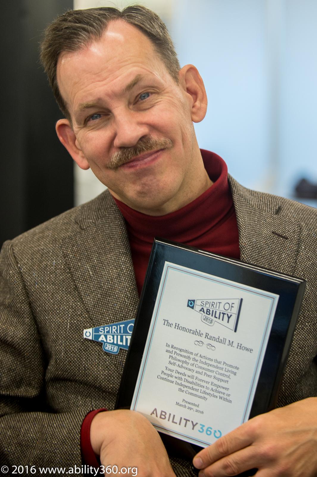 2015 Spirit of Ability award recipient, Randy Howe
