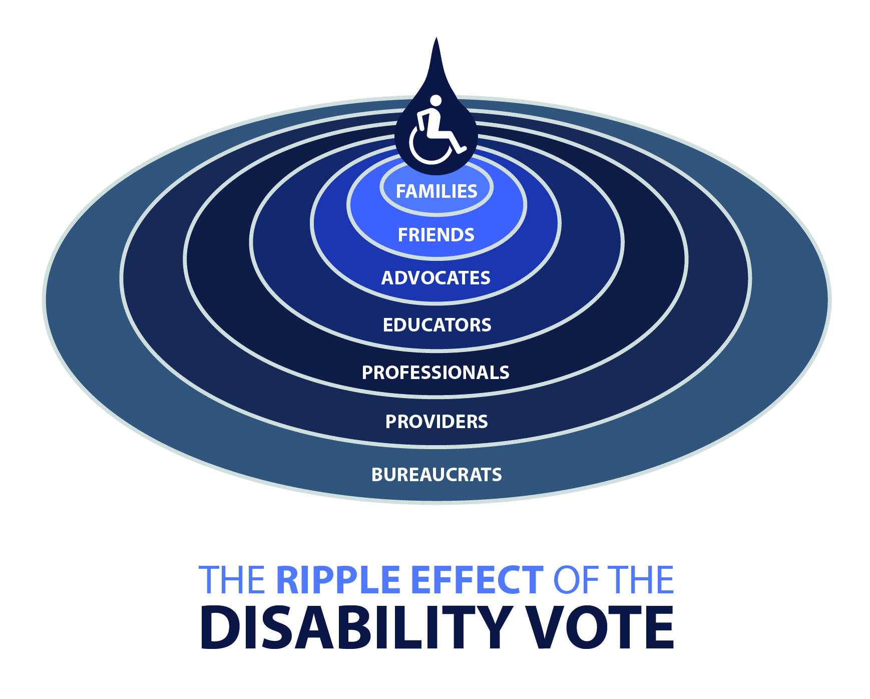 The Ripple Effect of the Disability Vote. Families. Friends. Advocates. Educators. Professionals. Providers. Bureaucrats.