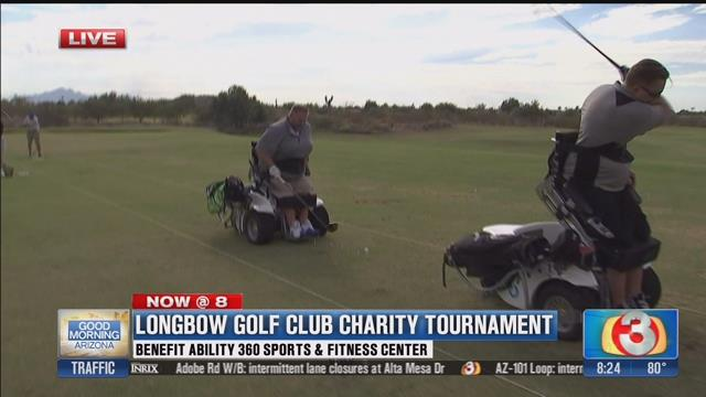 Screen shot of Good Morning Arizona's story on a new device that helps paralyzed golfers stand up.