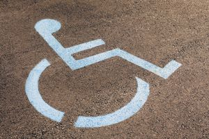 Symbol for PWDs on pavement