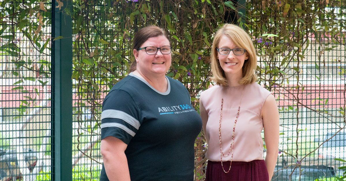 Sarah Olson and April Reed, Mandela Washington Fellow Program mentors