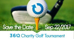 Save the Date, September 23, 2017, 360 Charity Golf Tournament