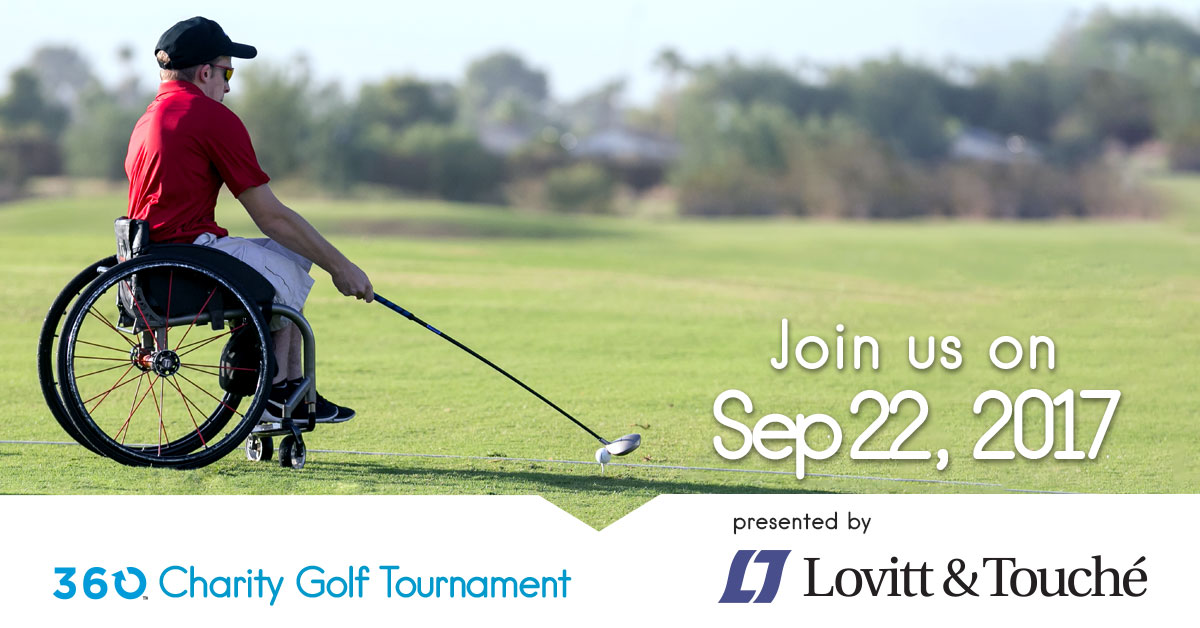 Join us on September 22, 2017. 360 Charity Golf Tournament presented by Lovitt and Touche