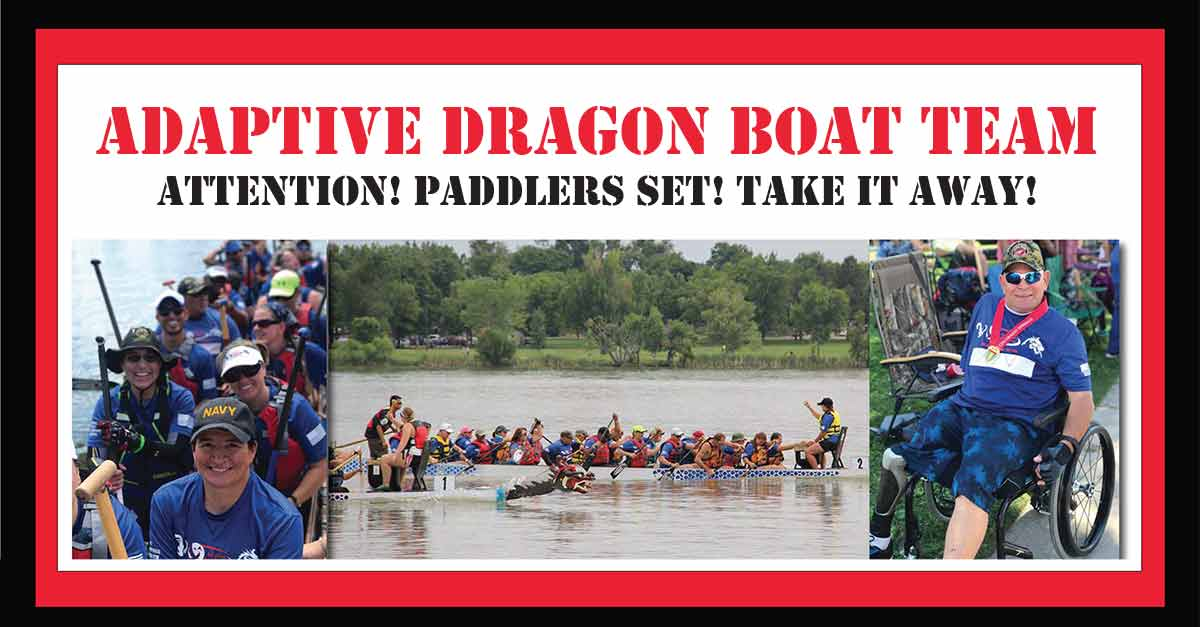 Adaptive Dragon Boat Team, Attention! Paddlers Set! Take it Away!