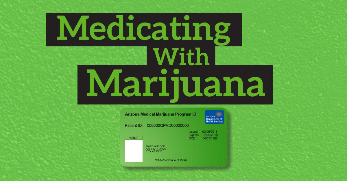 Medicating with Marijuana. There is a medical marijuana card with the name of Mary Jane