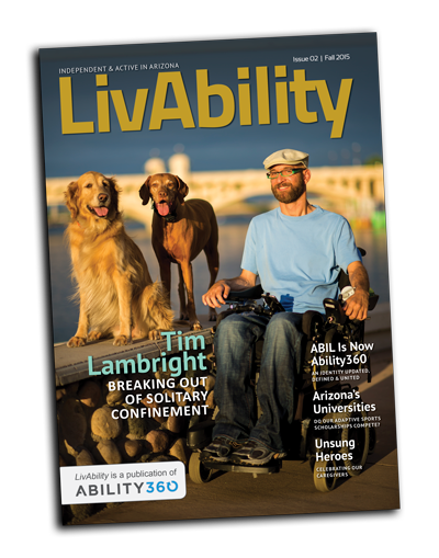 LivAbility Magazine, Issue 2, Cover.