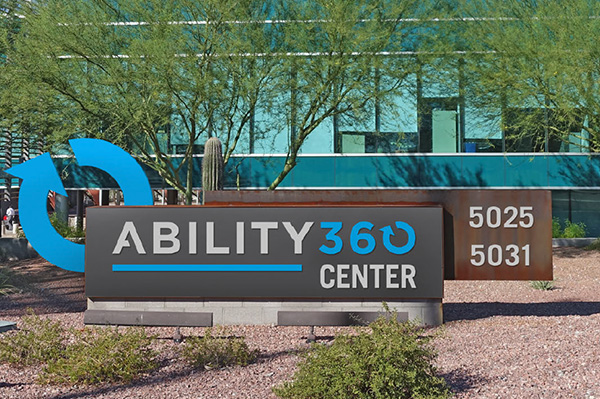 main sign in front of Ability360
