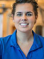 Brielle Carter wearing a blue shirt