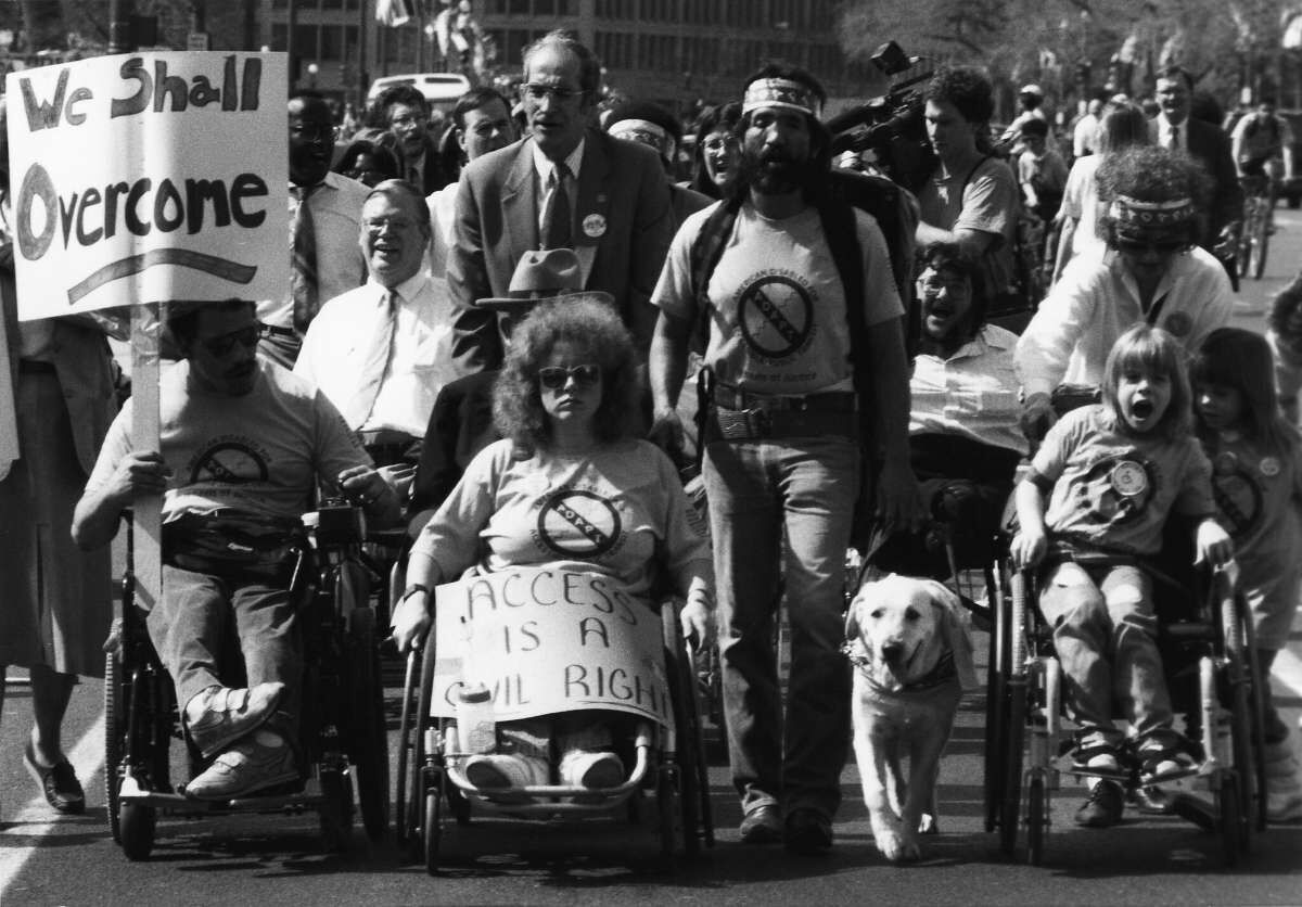 Activists at the ADAPT march in Washington