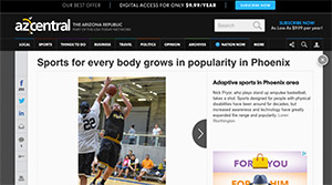 Screenshot of a story on azcentral.com about adaptive sports.