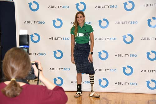 Allysa Steely poses at Ability360 event.