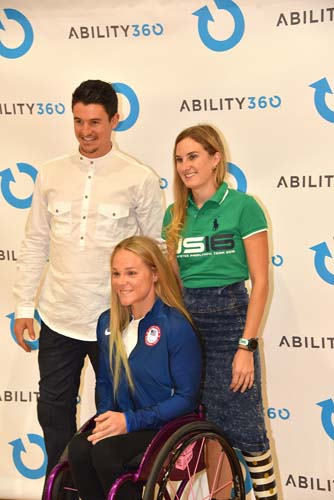 Paralympians pose at Ability360 Event.