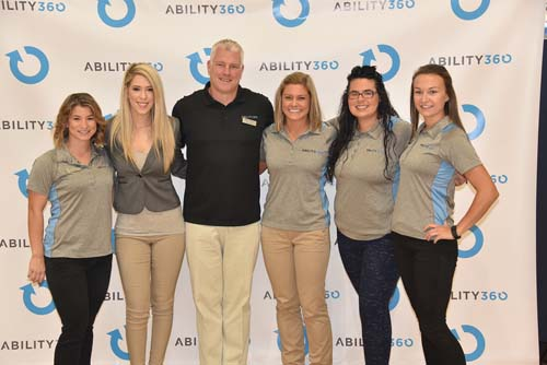 Ability360 Sports and Fitness Staff Pose for a Photo
