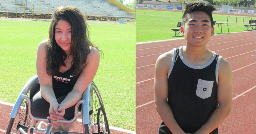 Adaptive Athletes Madison Sanchez-Forman and Kevin Messner