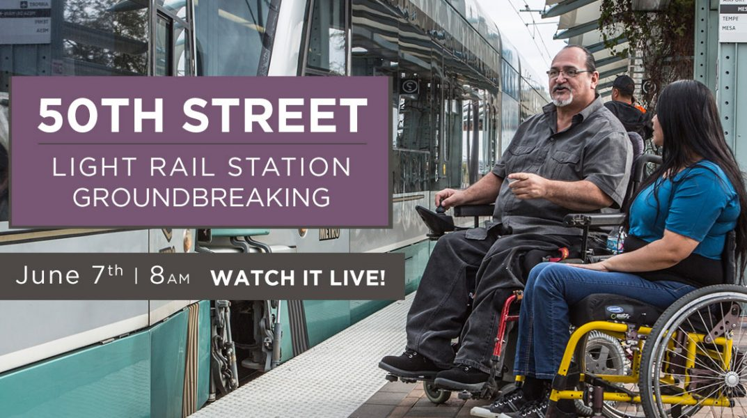 50th Street Light Rail Station Groundbreaking. June 7th at 8 am, watch it live.