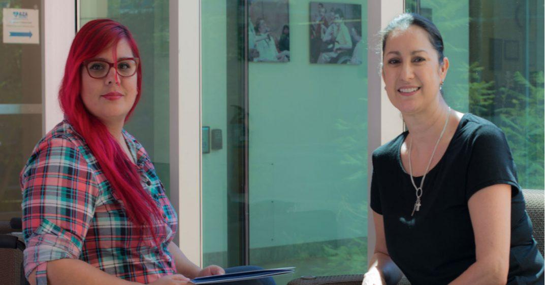 Summit organizers Rebeca Cavazos (left) and E. Mari Herrera-Daniels (right)