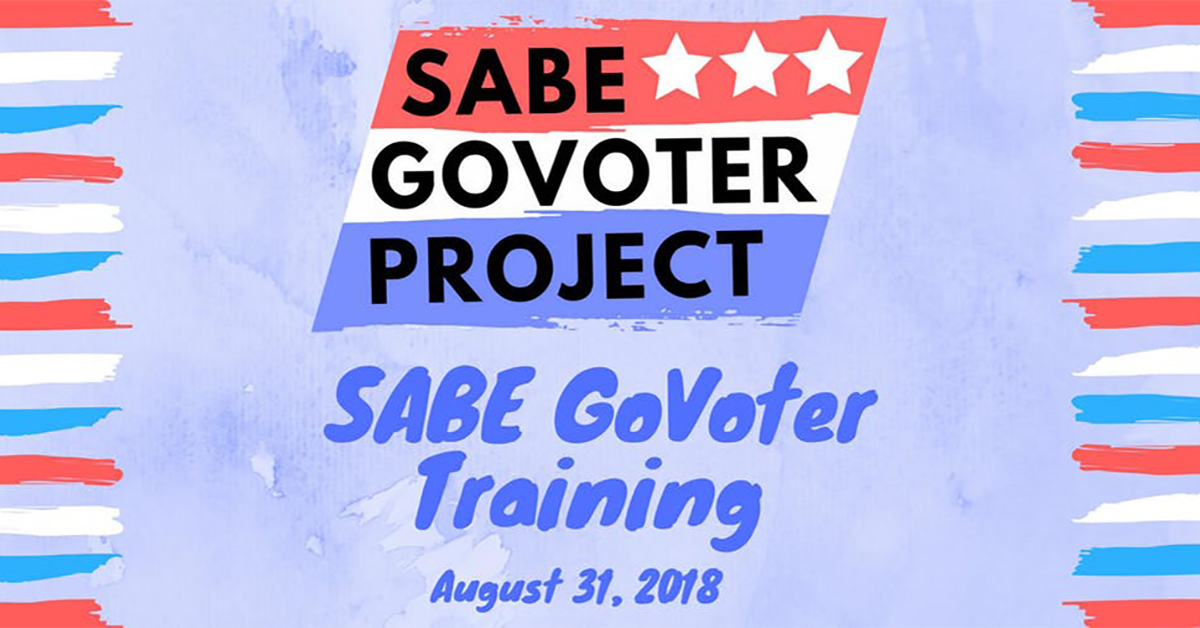 Sabe Go Voter Project, Sabe Go Voter Training, August 31, 2018