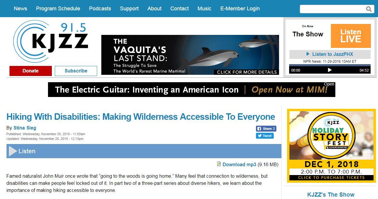 Thumbnail Image of KJZZ website