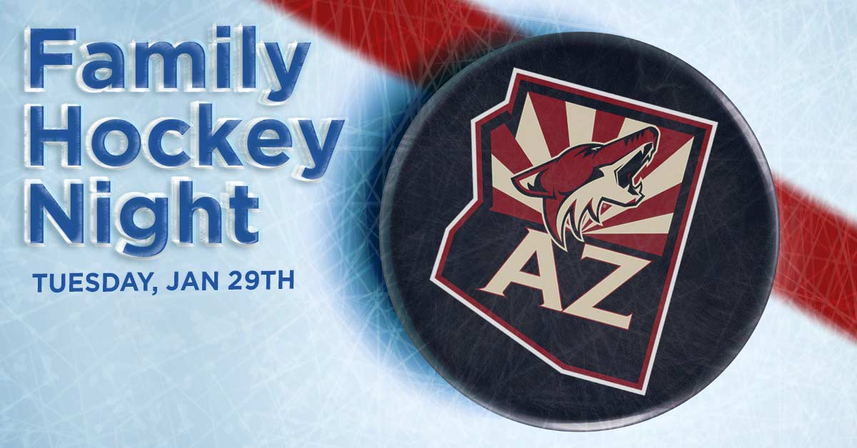 Family Hockey Night, Tuesday, January 29