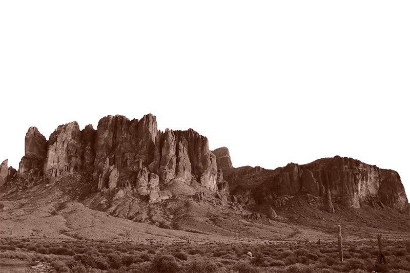 A beautiful picture of the south side of Superstition Mountains.