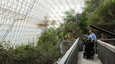 The inside of Biosphere 2