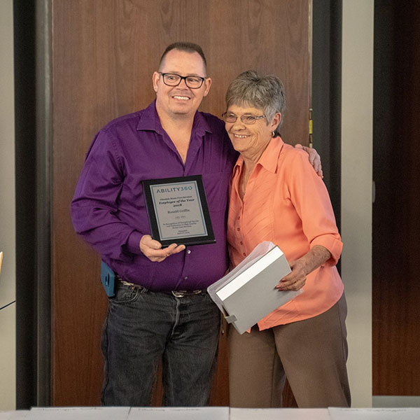Ronald Griffin is awarded the Glendale City Home Care Services Employee of the Year 2018