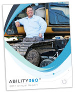 Ability360 2017 Annual Report Cover Thumbnail