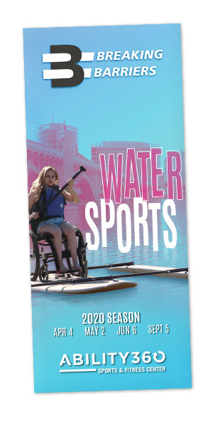 Breaking Barriers Water Sports Brochure Cover