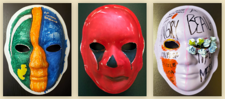 Picture of handmade masks